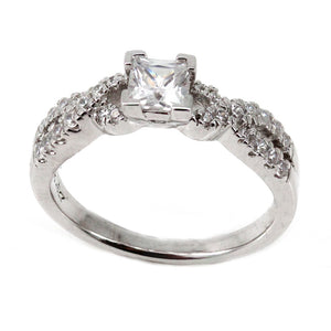 Twist Engagement Ring Mounting (0.56 ct. tw.)
