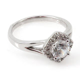 Kite Halo Engagement Ring Mounting (0.19 ct. tw.)