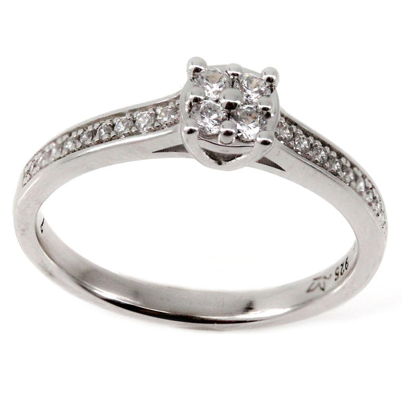 Cluster Center Engagement Ring Mounting (0.24 ct. tw.)