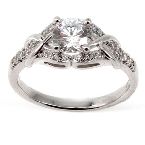 Criss Cross Engagement Ring Mounting (0.19 ct. tw.)