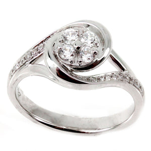 Cluster Swirl Engagement Ring Mounting (0.38 ct. tw.)