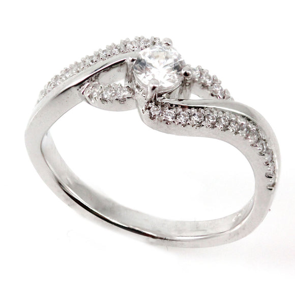 Swirl Engagement Ring Mounting (0.19 ct. tw.)