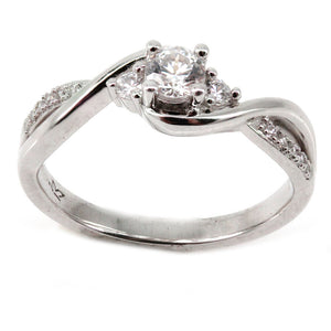 Twist Engagement Ring Mounting (0.09 ct. tw.)