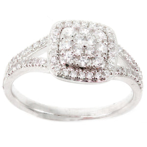 Cushion Halo Cluster Engagement Ring Mounting (0.44 ct. tw.)
