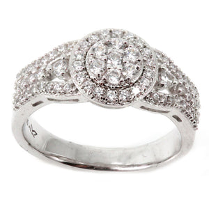 Halo Cluster Engagement Ring Mounting (0.59 ct. tw.)