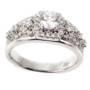 Cushion Halo Engagement Ring Mounting (0.46 ct. tw.)