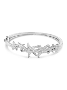 Starfish Sterling Silver Bangle Bracelet