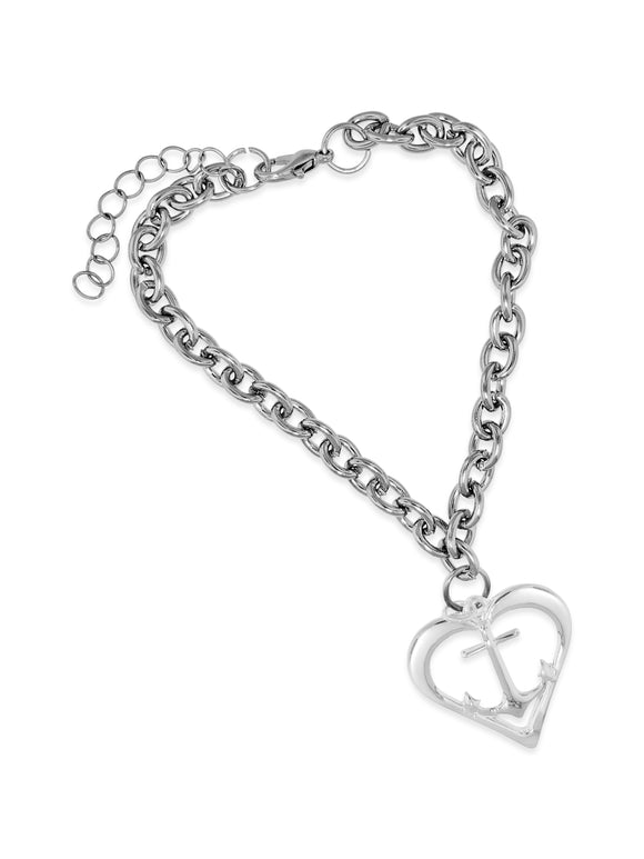 Heart Anchor Bracelet