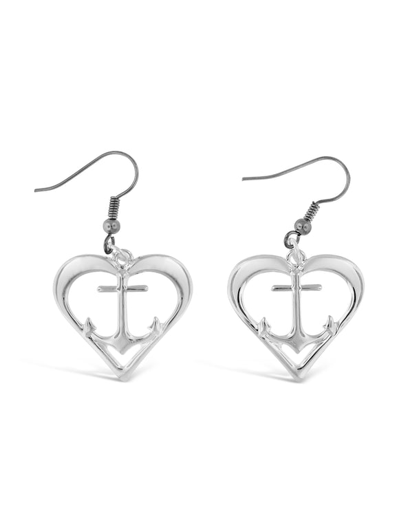 Heart Anchor Earrings