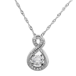Endless Opportunities Swarovski CZ Sterling Silver Dancing Stone Pendant
