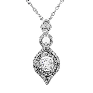 Genie In A Bottle Swarovski CZ Sterling Silver Dancing Stone Pendant