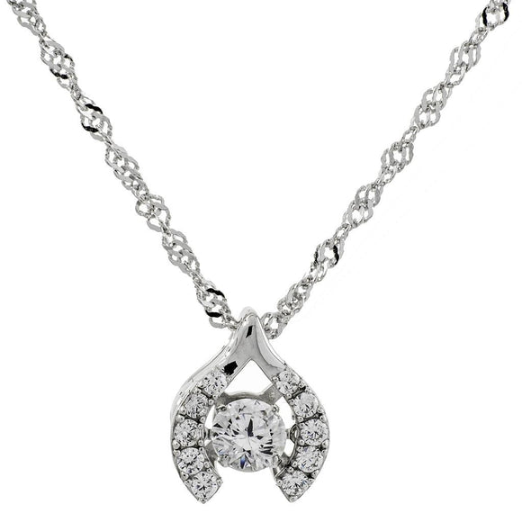 Make A Wish Swarovski CZ Sterling Silver Dancing Stone Pendant