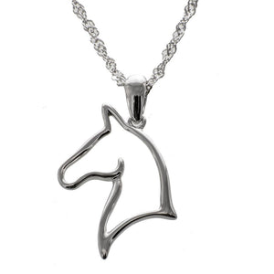 Marvelous Mare Platinum Plated Sterling Silver Monarch Horse Pendant