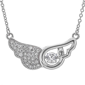 'Angel Wings' Swarovski CZ Dancing Pendant