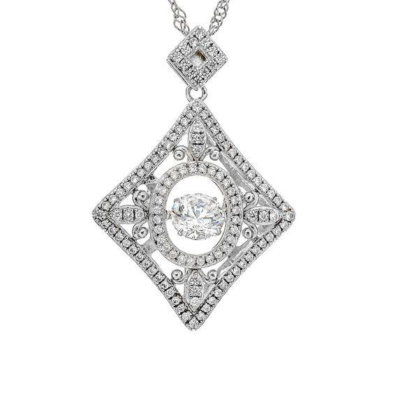Love and Desire Swarovski CZ Dancing Pendant