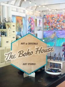 The Boho House Art Studio Colorful Art Crystals