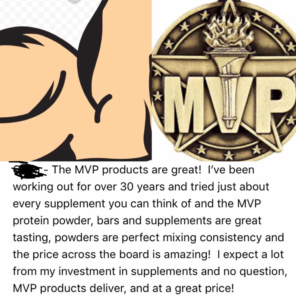 """MVP PROTEIN""  ""STRAWBERRY"" Whey Isolate Protein Powder- 1 Lb. (14 Servings)"
