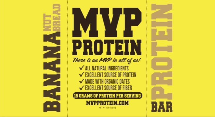 """BANANA NUT BREAD"" PROTEIN BARS (12 Bars Per Box)"