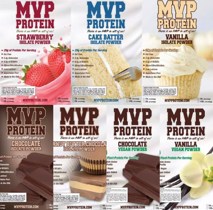 """MVP PROTEIN"" ""VEGAN STRAWBERRY"" Plant Protein Powder 20g of PROTEIN-1 Lb. (14 Servings)"