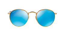 RAY BAN RB 3447 N GOLD WITH BLUE FLASH MIRROR LENS -  - Sunglasses - Sunglass Trend - 2