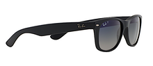 RAY BAN RB 2132 NEW WAYFARER MATTE BLACK POLARIZED -  - Sunglasses - Sunglass Trend - 3