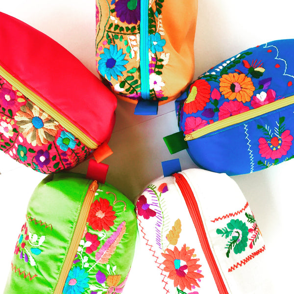 Mexican Dress Stand up Makeup Bag