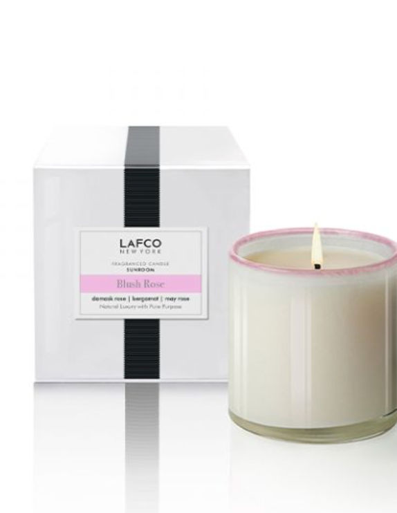 Blush Rose Candle from Lafco