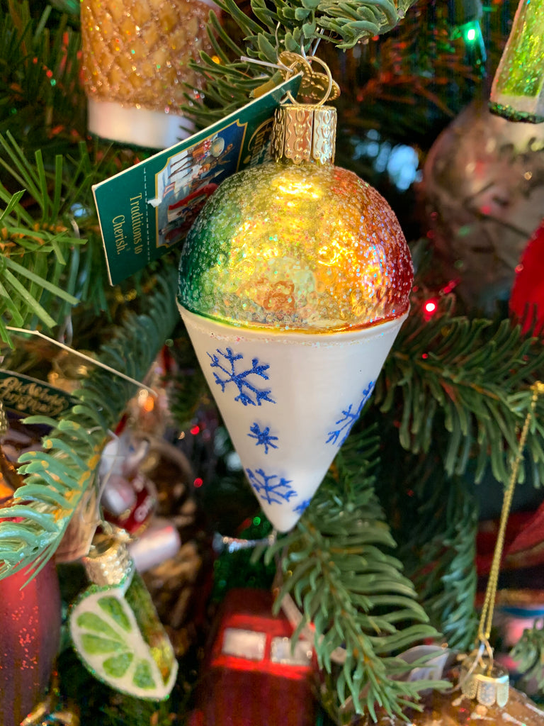 Snow Cone ornaments from Old World Christmas
