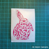 Tribal half lop decal, hot pink