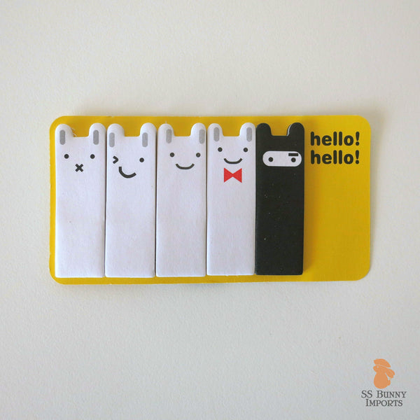 Rabbit sticky memo notes - ninja bunny set