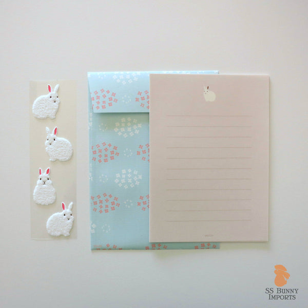 Rabbit letter set w/ white bunny stickers