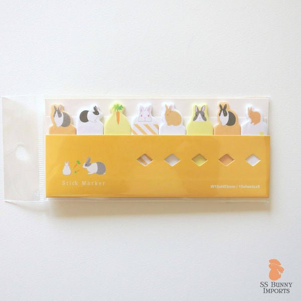 Rabbit sticky memo notes - bunny variety set