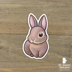 Lilac agouti rabbit sticker