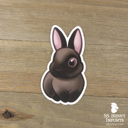 Siamese sable rabbit sticker
