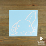 Peeking half lop rabbit decal