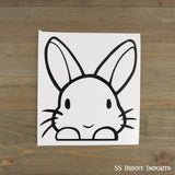 Peeking rabbit decal