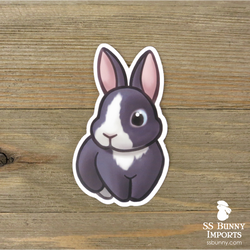 Vienna-marked blue rabbit sticker