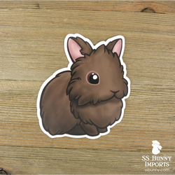 Chocolate lionhead sticker