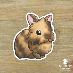 Black Japanese harlequin lionhead sticker