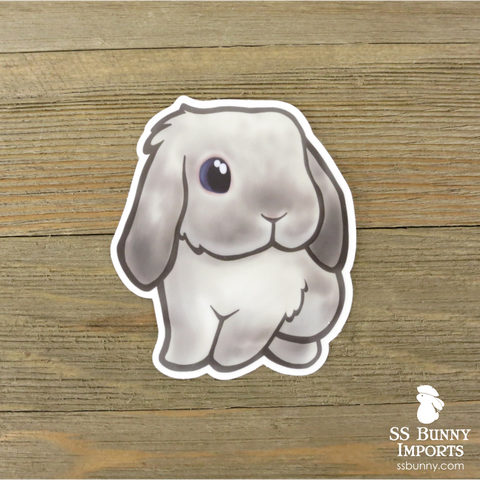 Frosty lop bunny sticker