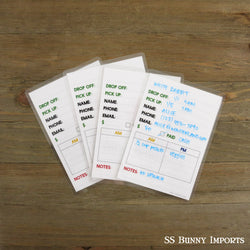 Boarding cards - set of 4, white back