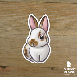Broken orange rabbit sticker