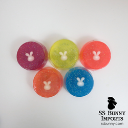 Bunny hand soap - round, white rabbit head