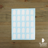 "25x 1"" Mini Lop silhouette decals"