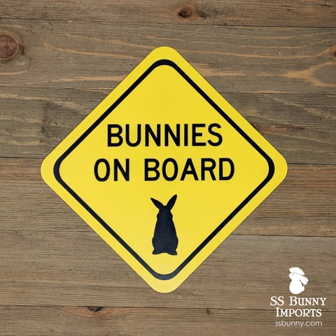 Bunnies on board magnet