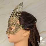 Lace bunny masquerade mask - gold