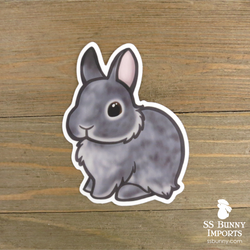 Chinchilla dwarf bunny sticker