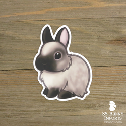 Sable point dwarf bunny sticker