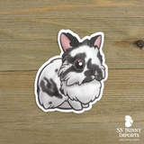 Custom 5x lionhead rabbit vinyl stickers