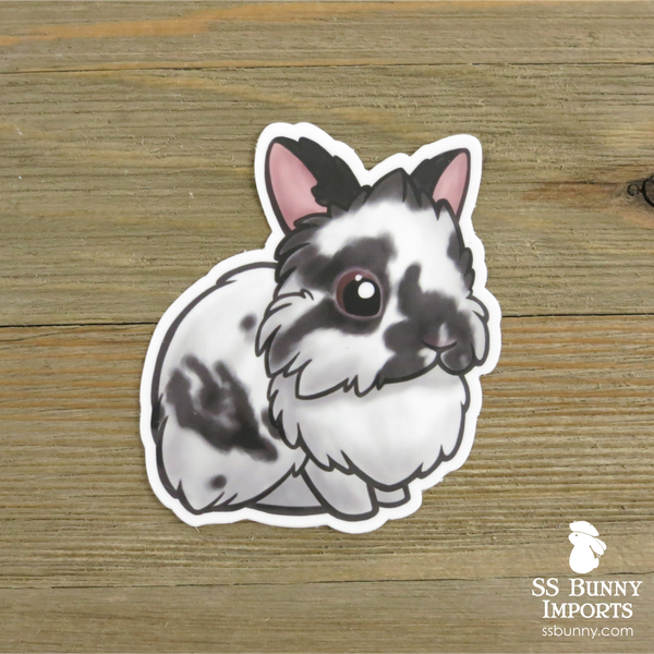 Broken black lionhead sticker